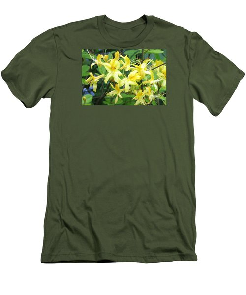 Men's T-Shirt (Slim Fit) featuring the photograph Yellow Rhododendron by Carla Parris