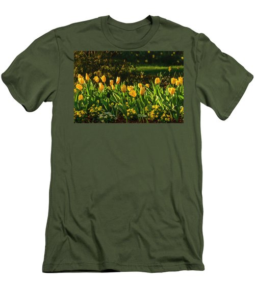 Yellow Spring Fever Men's T-Shirt (Athletic Fit)