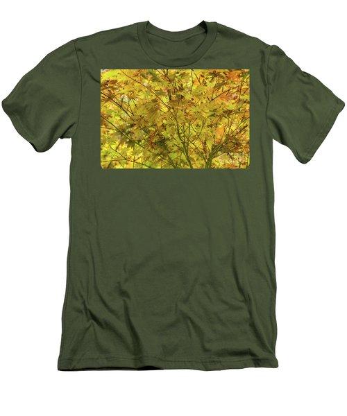 Yellow Spring Men's T-Shirt (Slim Fit) by Iris Greenwell