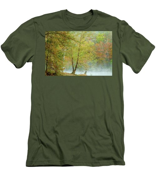 Men's T-Shirt (Slim Fit) featuring the photograph Yellow Trees by Iris Greenwell