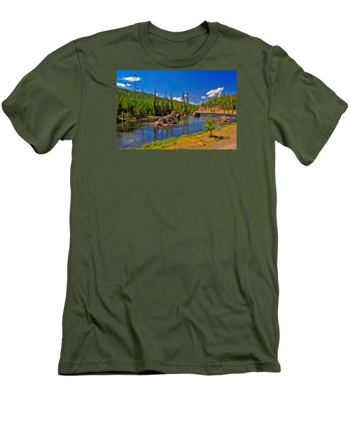 Yellowstone River Men's T-Shirt (Slim Fit)