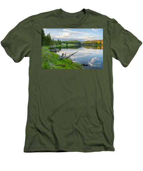 Yellowstone River Off Grand Loop Men's T-Shirt (Athletic Fit)