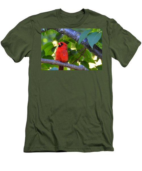 Men's T-Shirt (Slim Fit) featuring the photograph Yes I'm Listening by Betty-Anne McDonald