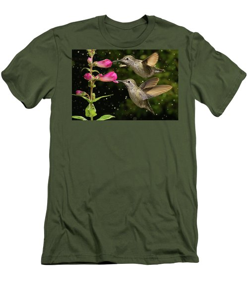 Men's T-Shirt (Athletic Fit) featuring the photograph Yes We Are Twins by William Lee
