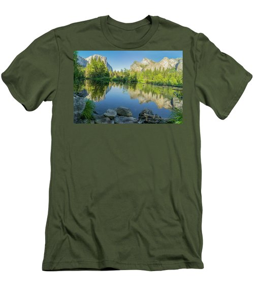 Men's T-Shirt (Slim Fit) featuring the photograph Yosemite by RC Pics