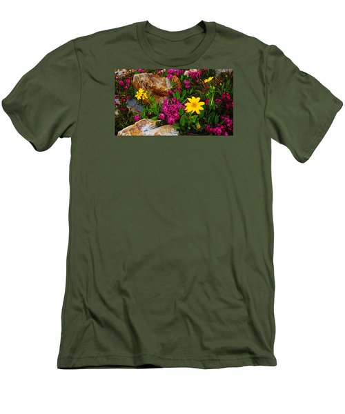 Yosemite Wildflowers Men's T-Shirt (Athletic Fit)