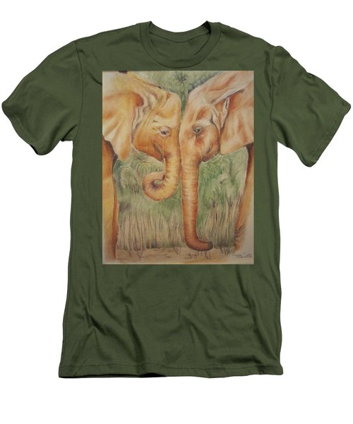 Young Elephants Men's T-Shirt (Athletic Fit)