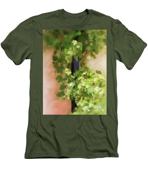Men's T-Shirt (Athletic Fit) featuring the digital art Young Greek Wine by Lois Bryan
