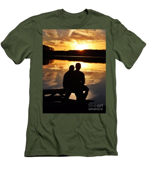 Young Love And Sunsets Men's T-Shirt (Athletic Fit)