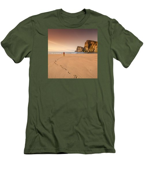 Your Own Beach Men's T-Shirt (Slim Fit) by Alex Conu