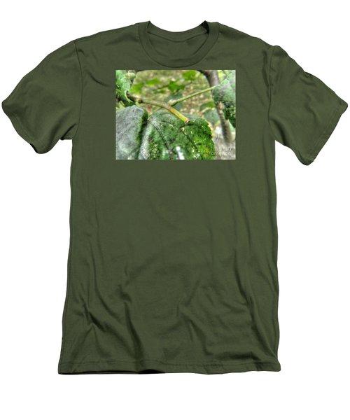 Men's T-Shirt (Slim Fit) featuring the pyrography Yury Bashkin Greeeenn by Yury Bashkin