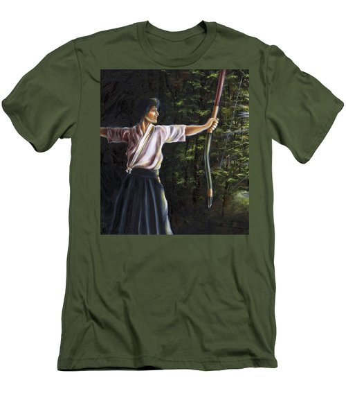 Men's T-Shirt (Slim Fit) featuring the painting Zanshin by Hiroko Sakai