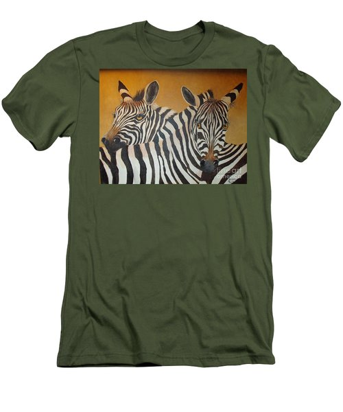 Zebra Love Men's T-Shirt (Slim Fit)