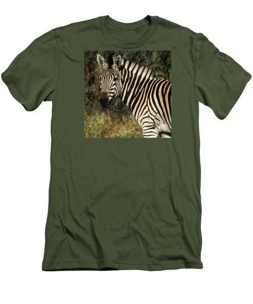 Zebra Watching Sq Men's T-Shirt (Athletic Fit)