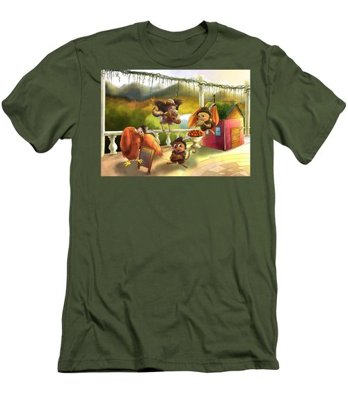 Zeke Cedric Alfred And Polly Men's T-Shirt (Athletic Fit)