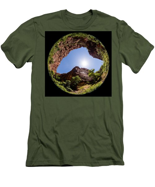 Zion Fisheye 1464 Men's T-Shirt (Slim Fit) by Michael Fryd