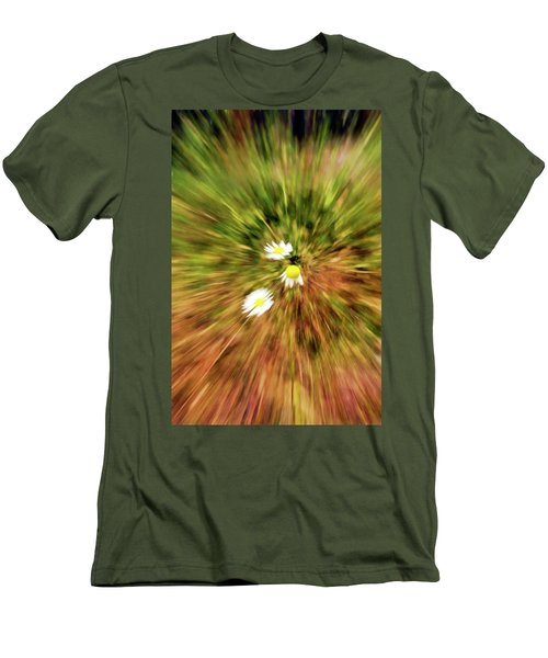 Zooming In Or Zooming Out Men's T-Shirt (Slim Fit) by James Steele