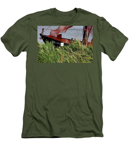 Men's T-Shirt (Slim Fit) featuring the photograph Zuiderzee Boat by KG Thienemann