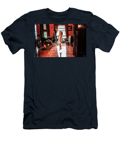 Men's T-Shirt (Slim Fit) featuring the photograph  Brooklyn Dancing by Ray Congrove
