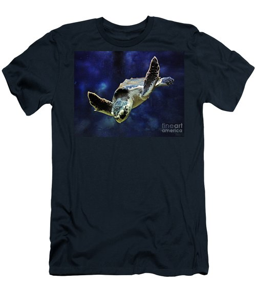 Men's T-Shirt (Slim Fit) featuring the photograph  Sea Turtle by Savannah Gibbs