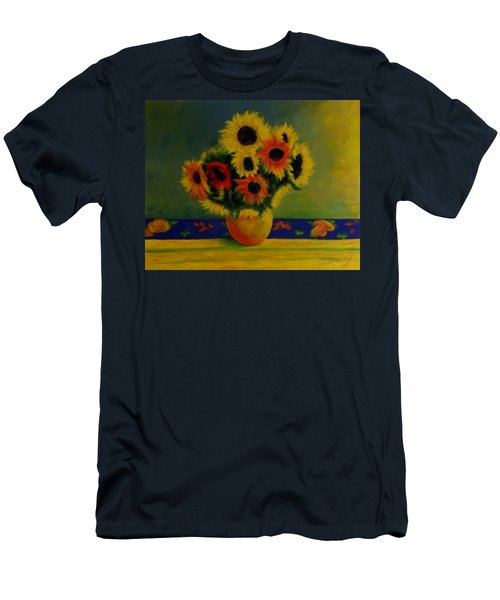 Summer Sunflowers  Men's T-Shirt (Athletic Fit)