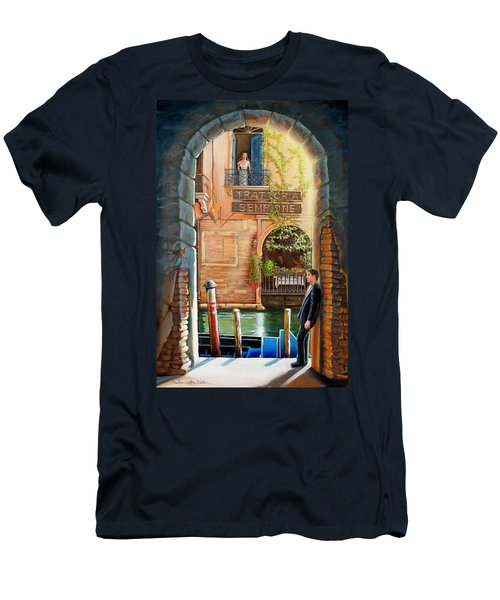 Thinking Of You Trattoria Sempione San Marco 578 Venezia Men's T-Shirt (Athletic Fit)