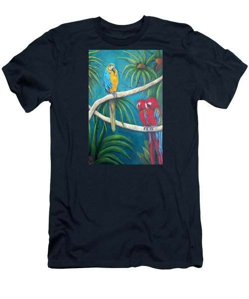 Three Is A Crowd,macaws Men's T-Shirt (Athletic Fit)