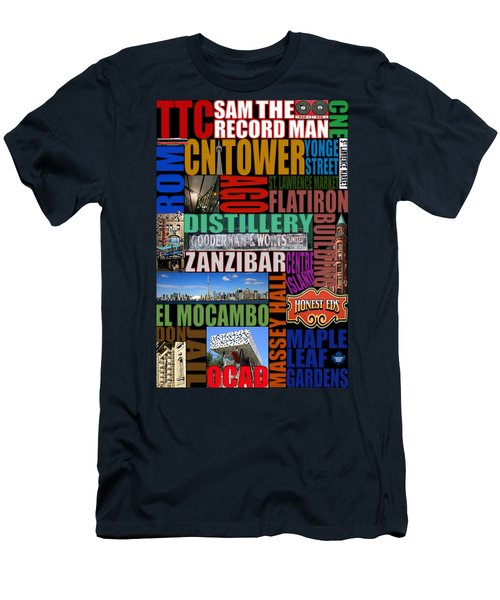 Toronto Typography Men's T-Shirt (Slim Fit) by Andrew Fare