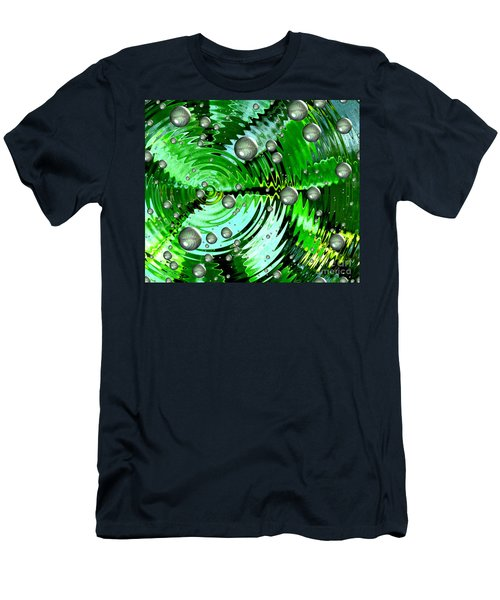 Amazing. Abstract Art. Green Grey  Blue Yellow  Men's T-Shirt (Athletic Fit)