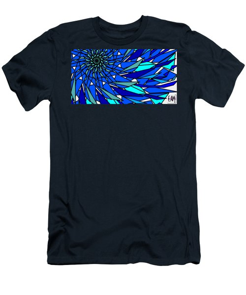 Blue Sun Men's T-Shirt (Slim Fit) by Elizabeth McTaggart