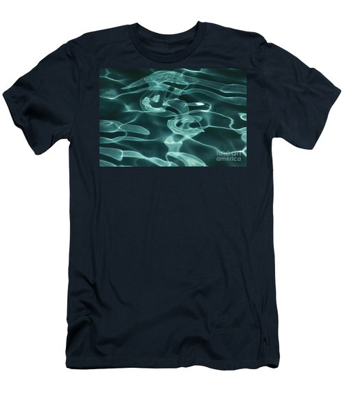 Blue Swirl Two Men's T-Shirt (Athletic Fit)
