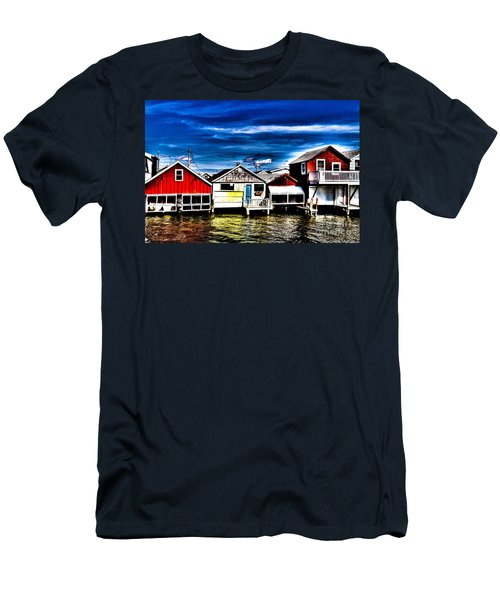Men's T-Shirt (Athletic Fit) featuring the photograph Boathouse Row by William Norton