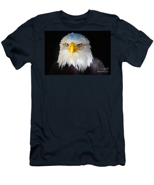 Closeup Portrait Of An American Bald Eagle Men's T-Shirt (Athletic Fit)