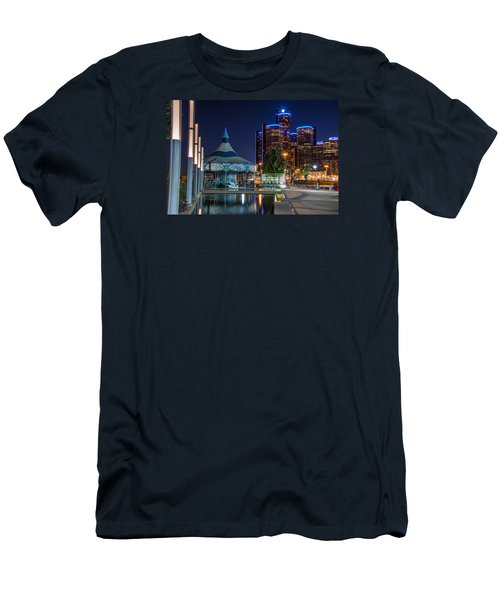 Detroit Riverwalk  Men's T-Shirt (Athletic Fit)