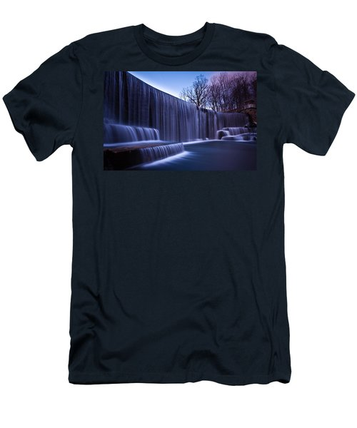 Men's T-Shirt (Slim Fit) featuring the photograph Falling Water by Mihai Andritoiu