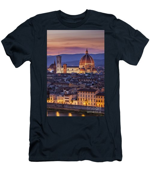Men's T-Shirt (Athletic Fit) featuring the photograph Florence Duomo by Brian Jannsen