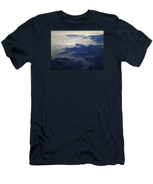 Flying Over The Alps In Europe Men's T-Shirt (Slim Fit) by Colette V Hera  Guggenheim