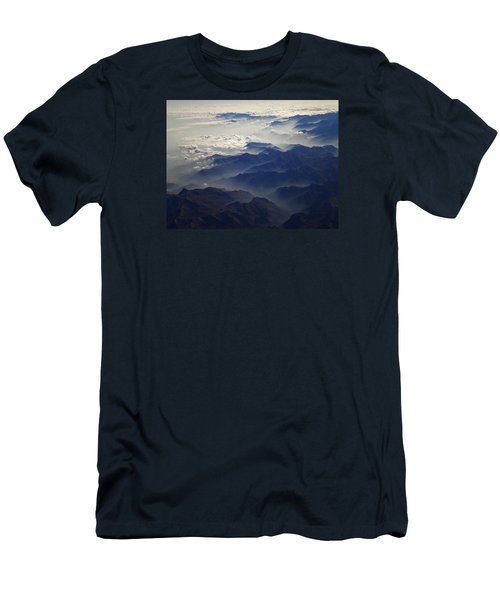 Flying Over The Alps In Europe Men's T-Shirt (Athletic Fit)