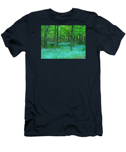 Forget-me-nots In Peninsula State Park Men's T-Shirt (Slim Fit) by David T Wilkinson