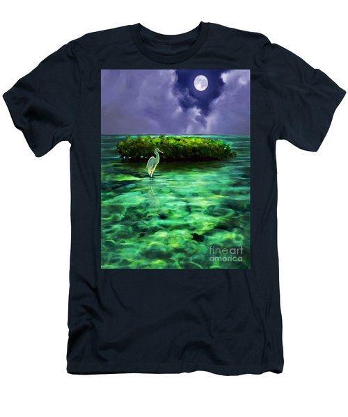 Full Moon Fishing Men's T-Shirt (Slim Fit) by David  Van Hulst
