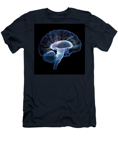 Human Brain Complexity Men's T-Shirt (Slim Fit) by Johan Swanepoel