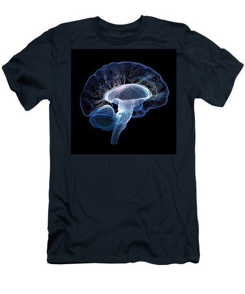 Human Brain Complexity Men's T-Shirt (Athletic Fit)