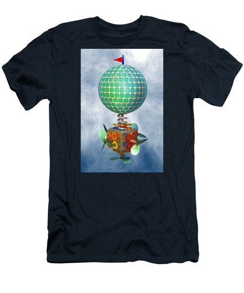 Men's T-Shirt (Slim Fit) featuring the digital art Improbability by Manny Lorenzo