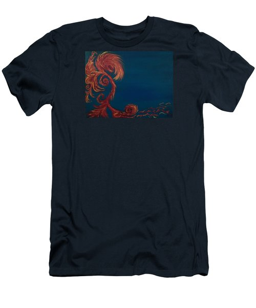 Jumbie Under De' Ocean Men's T-Shirt (Slim Fit) by Robert Nickologianis