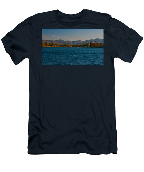 Lake Placid And The Adirondack Mountain Range Men's T-Shirt (Athletic Fit)
