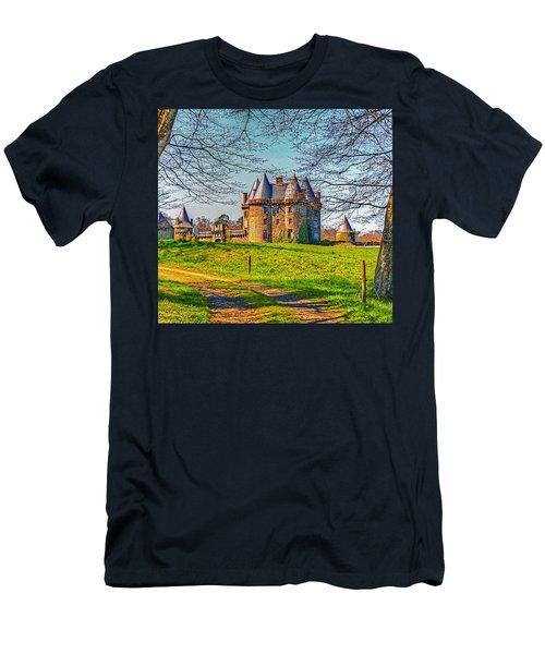 Chateau De Landale Men's T-Shirt (Slim Fit) by Elf Evans