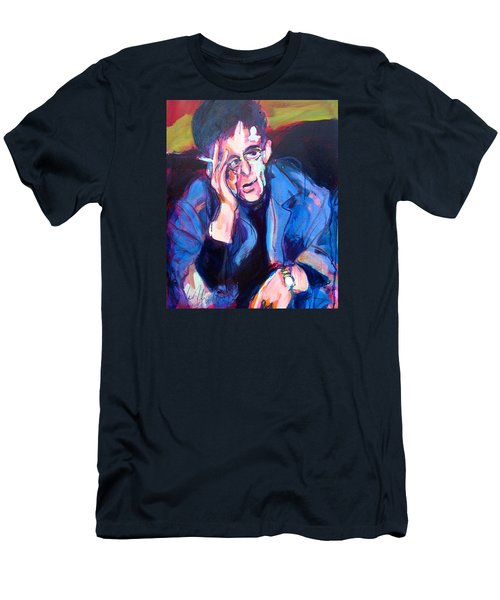 Men's T-Shirt (Slim Fit) featuring the painting Lou Reed by Les Leffingwell