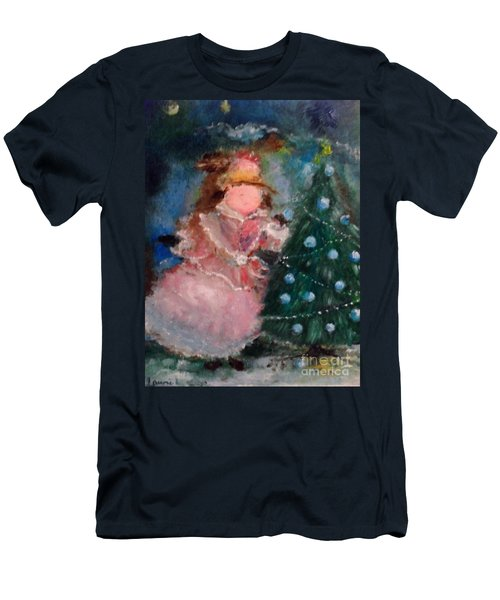 Men's T-Shirt (Athletic Fit) featuring the painting Mother Christmas by Laurie Lundquist