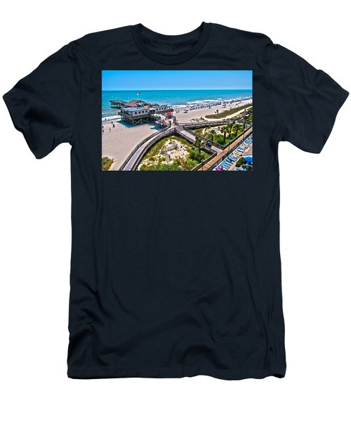 Men's T-Shirt (Slim Fit) featuring the photograph Myrtle Beach South Carolina by Alex Grichenko