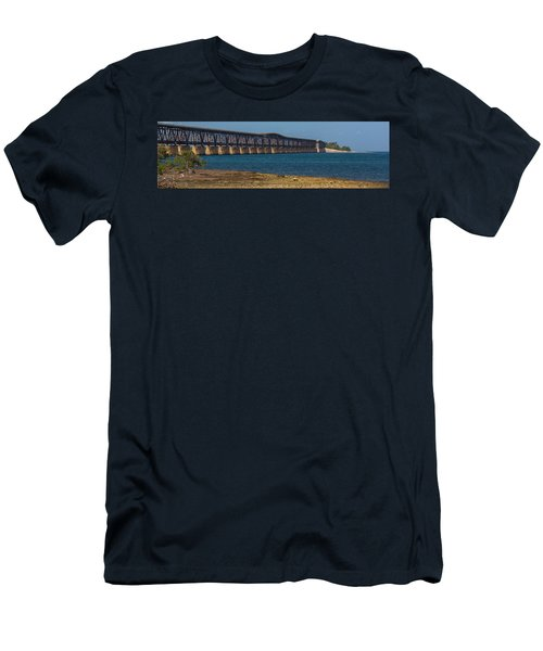 Old Bahia Honda Bridge Men's T-Shirt (Athletic Fit)